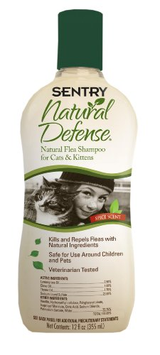 Sentry Natural Defense Cat Shampoo, 12 Fluid Ounce (Sentry Natural Defense Natural)
