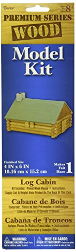 Darice 1-Piece Log Cabin Wood Model Kit, used for sale  Delivered anywhere in USA