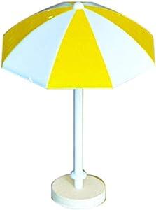 Sun Umbrella DIY Craft, Sttech1 Beach Style Miniature Ornament for DIY Fairy Garden Decoration Home Garden Decoration Accessories (L, Yellow)