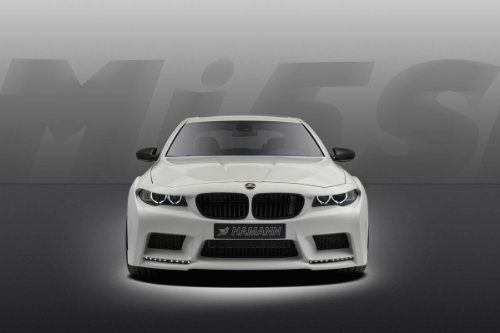 Hamann BMW M5 Mission Car Art Poster Print on 10 mil Archival Satin Paper White Front Closeup Studio View 36