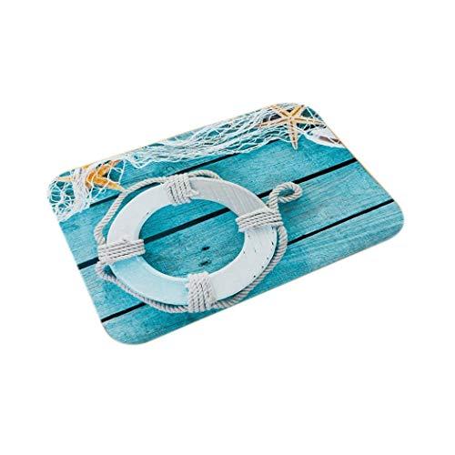 ROCONAT Underwater World Print Floor Mat Flannel Cushion Non-Slip Kitchen Bathroom Mat Carpets