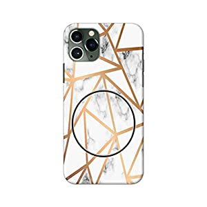 eStuffz for Apple iPhone 11 Pro Max Geometric Colorful Marble with Mobile Holder Pattern Hard Printed Stylish Light…