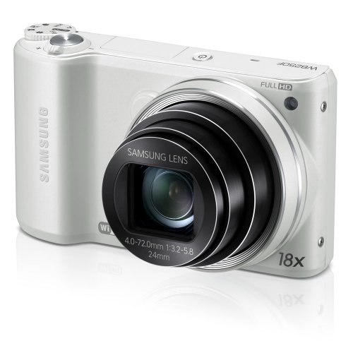 Samsung WB250F 14.2MP CMOS Smart WiFi Digital Camera with 18x Optical Zoom, 3.0''  Touch Screen LCD and 1080p HD Video (White) (OLD MODEL) by Samsung