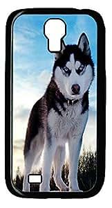 Siberian Husky Hard Cover Back Case For Samsung Galaxy S4,PC Black Case for Samsung Galaxy S4 i9500