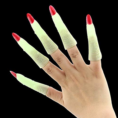 10xFake Fingers Witch Nail Set Cover Halloween Prop Party Fancy Dress Cosplay by Sannysis (Image #9)