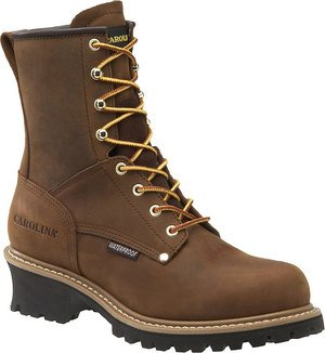 "Men's Carolina? 8"" Waterproof Loggers, COPPER, 9EE [Apparel]"