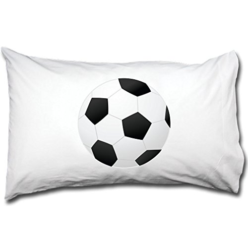 Style in Print Soccer Ball Bed Pillow Case Single Pillowcase by Style in Print