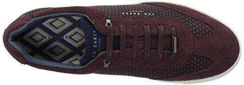 Ted Baker Mens Phranco Sneaker Rosso Scuro