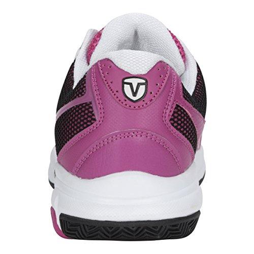 Vairo Damen Tennisschuhe Weiß Rosa