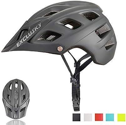 Exclusky Casco de Bicicleta de montaña, Casco Adulto IN-Mold 21 ...