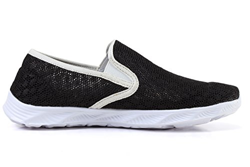 Women's Drying Lightweight Aqua Shoes Mesh amp; Water Quick Black Men's rqrg1