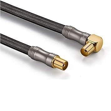 Ochoos - Cable de antena HDTV de 3 tipos 1080P, 75 Ohm, conectores ...