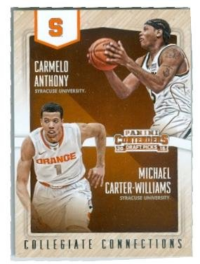 - Carmelo Anthony and Michael Cater Williams basketball card (Syracuse Orangemen NCAA Final Four JC) 2015 Collegiate Connections #20