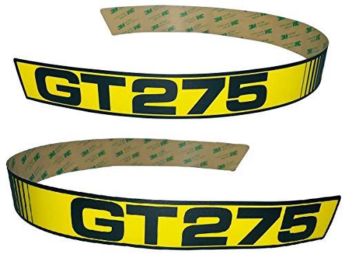 Set Decal Usa - Kumar Bros USA New LH & RH Upper Hood Decal Set Replaces M116562 M116563 Fits John Deere GT275