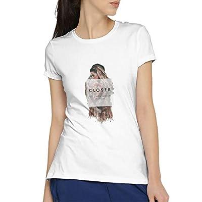 Kangtians SIPDGXKKZA The Chainsmokers Closer Women's Short-Sleeved Standard T-Shirt White