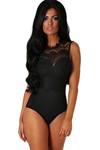 COSIVIA Damen Body schwarz schwarz S Gr. L, schwarz