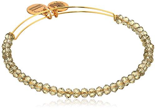 Alex and Ani Brilliance Bead Crescent Moon Blush/Shinny Gold Bracelet