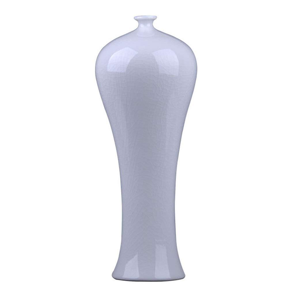 MAHONGQING 花瓶セラミックホワイトボルネオール亀裂釉薬花瓶美容ボトルホームデコレーションリビングルームの装飾 B07S1FWGFB
