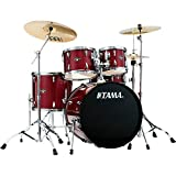 TAMA IP52NCCPM Imperialstar 5pc Complete Drum Set Kit with 22'' Bass Drum & Hardware, Cymbals in Candy Apple Mist