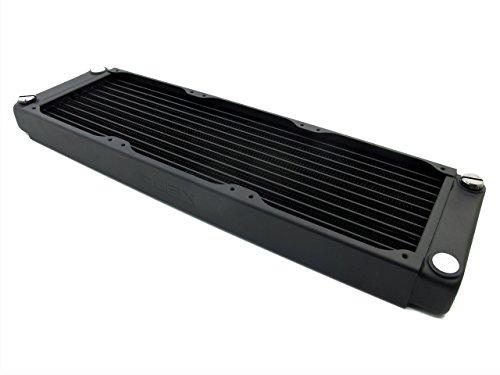XSPC EX240 Crossflow Radiator V2, 120mm x 2, Dual Fan, Black