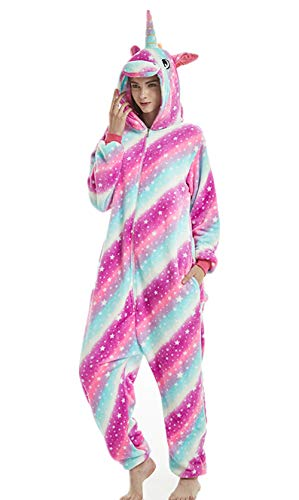Animal Cosplay Costume Unicorn Onesie Unisex Adult Pajamas Halloween Xmas Gift