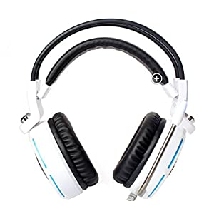 JASSBO Cyber Bar Gaming Headset Stereo Bass LED Light Headphone with Mic for all computers and smartphone J2