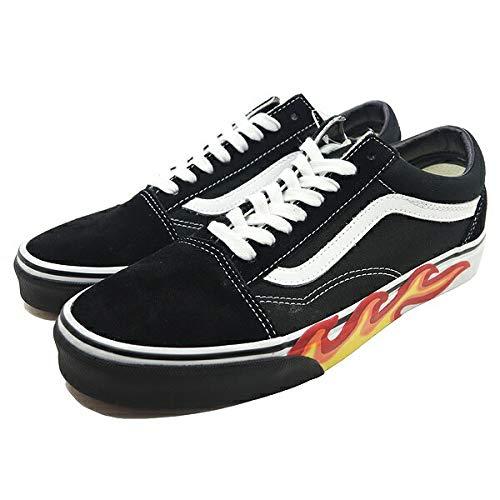 (Vans Unisex Flame Cut Out Old Skool Black/True White Sneaker - 10.5)
