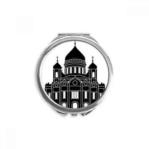 (Moscow Cathedral Christ Russia Mirror Round Portable Hand Pocket Makeup)