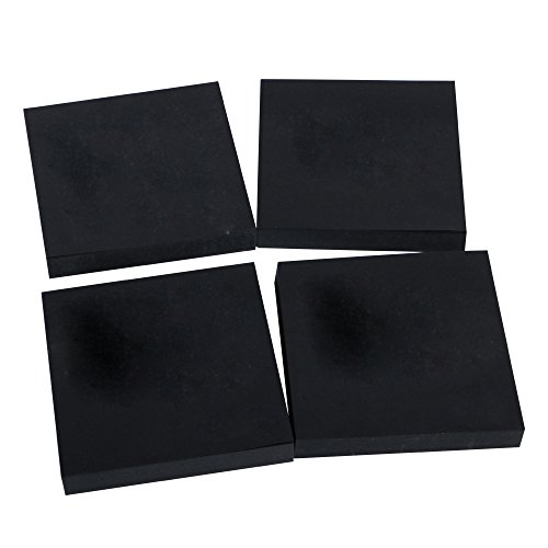 Eagle Black Sticky Notes, 3 X 3 Inch, 100 sheets/Pad, 4 Pads