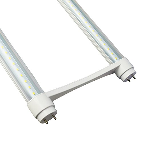 4 Pack of 2ft 20Watt U Bend T8 LED Tube,Replacement for FB32T8 UBent Fluorescent Tube,100-277V Input,2000LM,Super Bright Clear Lens,LM-79 Test Passed (4-Pack 5500K Daylight White) by WYZM (Image #3)