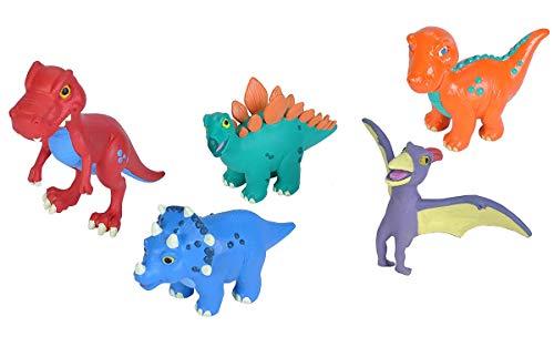 Wild Republic Baby Dino Polybag, T-Rex, Stegosaurus, Brachiosaurus, Triceratops, Pteranodon, Dinosaur Figures, Gifts for Kids, 5Piece Playset from Wild Republic