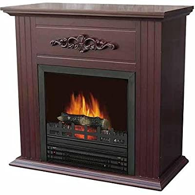 Electric Fireplace with 28 Mantle, Chestnut by Decor Flame by BLOSSOMZ
