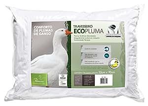 Travesseiro Ecopluma Para Fronhas 50X70, Fibrasca, Revestimento Algodão Percal, Branco