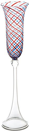 Swirl Double Old Fashioned - Abigails 725316 Blue & Red Swirl Champagne Flute 4 Piece
