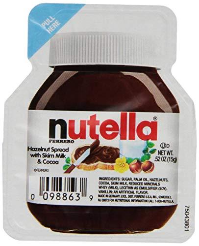 Nutella Chocolate Hazelnut Spread, Single Serve Mini Cups, .52 oz. each, 120 Count
