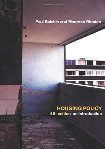 Housing Policy In The United States: An Introduction (Housing Policy In The United States An Introduction)