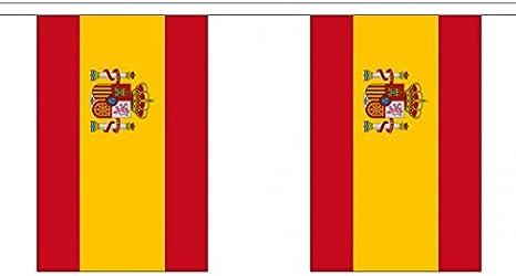 3 metros 10 (22,86 cm x 15,24 cm) Estado español de la bandera de España con el escudo del 100% poliéster Material banderines de fiesta Ideal para decorar Street House Pubs de