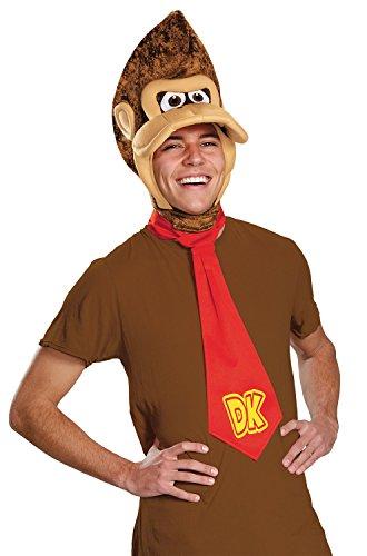 Disguise Men's Super Mario Donkey Kong Costume Kit, Brown, One (Donkey Kong Halloween)