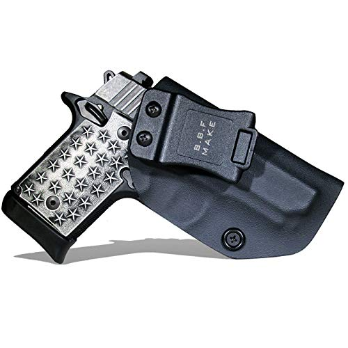 B.B.F Make IWB KYDEX Holster Fit: Sig Sauer P938 | Retired Navy Owned Company | Inside Waistband | Adjustable Cant | US KYDEX Made (Black, Right Hand Draw (IWB))