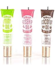 Broadway Vita-Lip Clear Lip Gloss 0.47oz/14ml (3PCS - Mint & Coconut & Rosehip Oil)