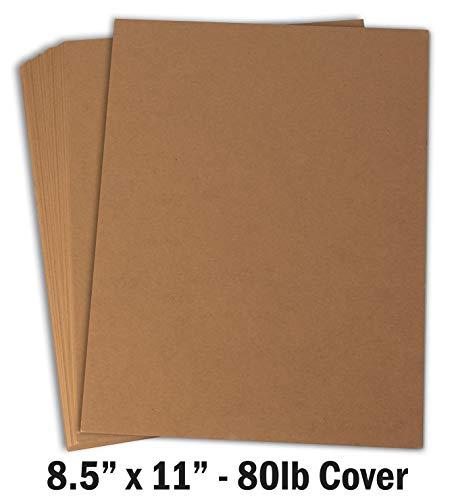 Hamilco Brown Colored Kraft Cardstock Paper - 8 1/2 x 11