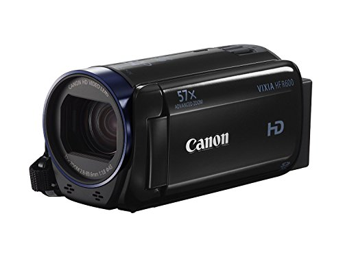 Canon VIXIA HF R600 Full HD Camcorder with 3 inch Touchscreen and 57x Advanced Zoom – Black (Renewed)