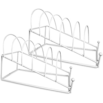 Plate Holder - White 6 Place Plate Stand - Set of 2 Stands - Dinner Plate  sc 1 st  Amazon.com & Amazon.com: Plate Holder - White 6 Place Plate Stand - Set of 2 ...
