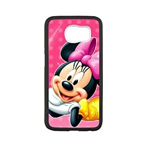 Durable Rubber Csaes Samsung Galaxy S6 White Cell Phone Case Minnie Mouse Rrilr Special Design Cover