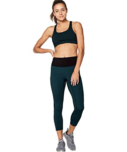 Lululemon - Run the Day Crop - SUBM/Blk - Size 10 by Lululemon