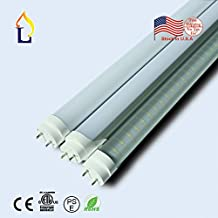 (25 PACK) T8 LED Tube Light 4FT Retrofit Kit Tube Lamp G13 18W (60W equivalent), 5000k (Cool White) UL-Listed & DLC-qualified Pack Fluorescendt replacement