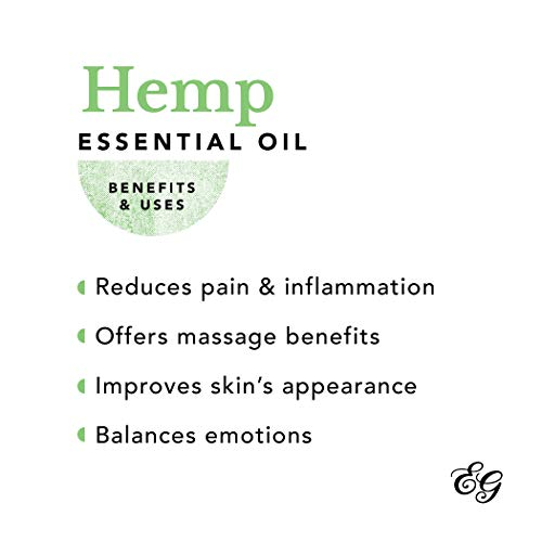 Edens Garden Hemp Essential Oil, 100% Pure Therapeutic Grade (Highest Quality Aromatherapy Oils- Inflammation & Pain), 10 ml