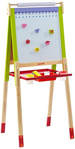 Amazon.com: Janod J07582 Height Adjustable Easel Wooden Toy ...