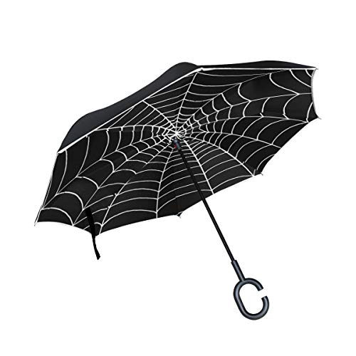 CHLBOJ Double Layer Inverted Umbrella Cars Reverse Umbrella Spider Web Windproof UV Proof Travel Outdoor Umbrella