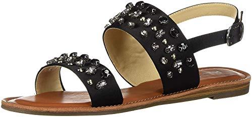 Report Women's Quiana Flat Sandal, Black, 8.5 M US ()